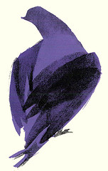 Rock dove (Japanese Flower and Bird Art) Tags: bird rock dove columba livia columbidae sachiko junko mochizuki modern screenprint print japan japanese art readercollection