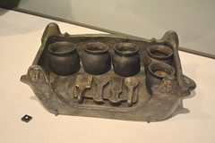 Chicago, IL - Grant Park - Field Museum - Ancient Mediterranean Cultures in Contact - Etruscan Bucchero Offering Tray (Focolare) (jrozwado) Tags: northamerica usa illinois chicago museum fieldmuseum naturalhistory grantpark etruscan focolare offeringtray bucchero