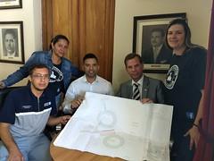 Visita do grupo de patinação Barigui (reivindicando reforma da pista de patinação)
