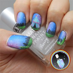 Midnight Circus (ithinitybeauty) Tags: nails nailart manicure style fashion nail polish acrylic paint painting notd nailswag unas hobbies craft art artist artwork miniature forest freehand trends storry fantasy nails2inspire inspiration illustration design