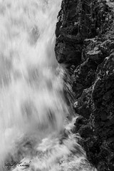 Persistence Versus Resistance_27A0463 (Alfred J. Lockwood Photography) Tags: alfredjlockwood nature waterfalls abstract monochrome texture shapes contrast brink upperfalls yosemitenationalpark morning summer wyoming cliff riverbank yellowstoneriver