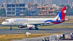 "Nepal Airlines Airbus A320 9K-AKX ""Lumbini"" New Delhi (DEL/VIDP) (Aiel) Tags: nepalairlines airbus a320 9kakx lumbini delhi newdelhi canon60d tamron70300vc"