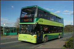 1144, Binfield (Jason 87030) Tags: 1133 southernvectis binfields fairleeraod newport five 5 green doubledecker october 2017 roadside iow island isleofwight scania omnicity bus 1144 hw09bbx