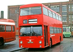 Midland Red East: 2763 (GHM763N) in Leicester Bus Station (Mega Anorak) Tags: bus daimler fleetline crl6 mcw dm londontransport midlandredeast leicester
