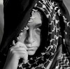(Shu-Sin) Tags: portrait girl serious sad black white blw hasselblad ilford medium format scarf refugee immigrant