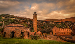 Brickworks - Porth Wen - Anglesey (urfnick) Tags: canon eos 1300d efs1018mm cliffs ruins derelict factory angelsey wales northwales sunset nature uk clouds chimney ivy
