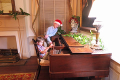 christmas2017duo (babyfella2007) Tags: christmas museum antique empire rosewood piano child rug children boy young old couch painting santa clause hat magnolia secretary wwi soldier victorian walnut room interior winnsboro sc south carolina southern staircase mirror grant carson jason michelle taylor mahogany helmet uniform holly design style historic history preservation mother son