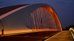 Trojský most | Troja bridge (vlada2017) Tags: praha večernípraha nočnípraha prague nightprague nightphotography eveningprague českárepublika czechrepublic lowlightphotography most bridge trojskýmost trojabridge architektura architecture bluehour lines linie