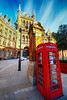St Pancras in London, United Kingdom (` Toshio ') Tags: toshio london uk england unitedkingdom stpancrasstation redphonebooth phonebooth hotel renaissance trainstation fujixt2 xt2