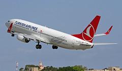 TC-JVD LMML 31-10-2017 (Burmarrad (Mark) Camenzuli) Tags: airline turkish airlines aircraft boeing 7378f2 registration tcjvd cn 42007 lmml 31102017