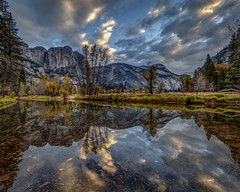 Morning Cloud Reflection in the Merced River (Jeffrey Sullivan) Tags: merced river reflection weather clouds yosemite nationalpark fall colors photography workshop landscape travel california usa nature canon eos 6d photo copyright november 2017 jeff sullivan unitedstates sierranevada national park united states morning