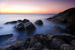 seascape (pattana92392) Tags: seawave sea longexposure coast water fineart stone sunset