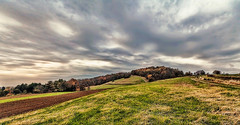 IMG_6257-59Ptzl1scTBbLGEM (ultravivid imaging) Tags: ultravividimaging ultra vivid imaging ultravivid colorful canon canon5dmk2 clouds stormclouds sunsetclouds scenic vista rural fields farm pennsylvania pa panoramic painterly evening autumn autumncolors twilight landscape sky barn