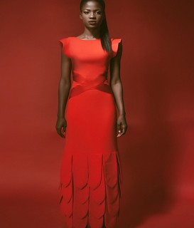 #couture. Luxury is the ease of a t-shirt in a very expensive dress. Get my look at the slay network