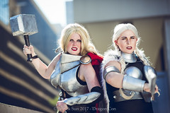 SP_68525-4 (Patcave) Tags: thor valkyrie norse god marvel comics marvelcosplay hammer throw superhero blonde mjolnir armor cape