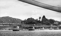 Po Nagar Temple and the bridge of Bóng Village - Tháp Bà Po Nagar và cầu Xóm Bóng - Nha Trang - 1957 (Nguyen Ba Khiem) Tags: 1950s 1957 hìnhảnhxưa việtnam việtnamxưa nhatrang nhatrangxưa nguyễnbámậu phongcảnh nước sôngcái cầu xómbóng thápbà ponagar thápchăm chămpa sông đườngphố