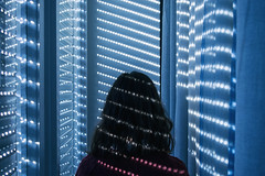 Dot (alessandra.butti) Tags: dot light indoor nikon d3200 1855 luce casa tenda punto tapparella person persona turned blue blu girata home