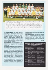 Plymouth Argyle vs Blackburn Rovers - 1991 - Page 13 (The Sky Strikers) Tags: plymouth argyle blackburn rovers barclays league division two home park programme one pound