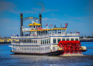 Creole Queen Steamboat on the Mississippi River - New Orleans LA