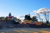 East Point Lighthouse 11-17-17 (MelenaMe) Tags: lighthouse eastpointlighthouse sky cloud clouds sunshine boat leesburgnj eastpoint