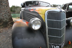 Flamed (*SIN CITY*) Tags: australia americancarsinaustralia car ford chev chevy motor transport flames custom hotrod hot rod queensland aussie lowrider 7d canon headlight grill custompaint oldschool oldsmobile 34 32 49 tudor 40 vehicle tuff truck v8 carshow backtobrunswick kool cool