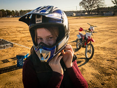 Skye get ready to ride (brentdanley) Tags: johndebartolo dirtbike motorcycle skyedanler scarborough maine unitedstates us