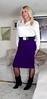 Satin blouse with purple skirt (bethany_labelle) Tags: transvestite satin blouse skirt boots cross dress crossdress