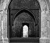 Passages (codamatt) Tags: blackandwhite bw doors passages shapes contrast ireland eire castle composition explore travel
