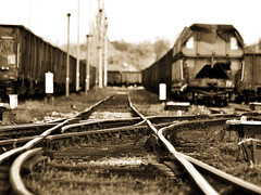 old rail (Darek Drapala) Tags: railway rail railroad sepia legnica trains train wagon panasonic poland polska panasonicg5 lumix light urban industrial