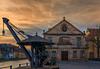Bamberg, Am Kranen 1 (Jutta Achrainer) Tags: bamberg canoneosm5 efm18150mmf3563stm staedteundorte amkranen schlachthaus wolken licht