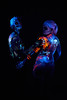 DSC07650 (Dominus lux) Tags: bodypainting körperbemalung kunstwerk halloween monster katze mond universum reisverschluss nacht sterne skelett knochen tatze krallen pfote hörner zähne maul uv licht neonlicht neon leuchten uvlicht
