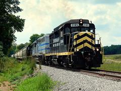 Indiana Northeastern near Fremont Indiana (Matt Ditton) Tags: indiana northeastern train shortline