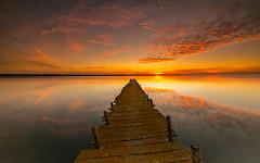 The lost pier (marcolemos71) Tags: seascape sadoriver water hightide oldpier lost wood sky clouds sunset rnes naturereserve reflection longexposure leefilters thelostpier minimalism marcolemos