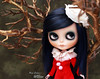 You see me (pure_embers) Tags: pure embers blythe doll dolls custom rosichi pureemberswillow willow neo uk laura england girl pretty pureembers photography takara smoky eyes portrait trees stellina set red cute