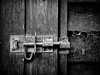 (georgekells) Tags: lock metal bolt wood grain nails screws textures details shed structure garden winter cobwebs blackandwhite monochrome uncropped shadows shaded door leaf bw knots