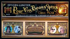 Le lunetier / The optician - Passage du Grand Cerf - Paris II (christian_lemale) Tags: lunettes lunetier opticien optician passage grand cerf paris ii france nikon d7100 glasses