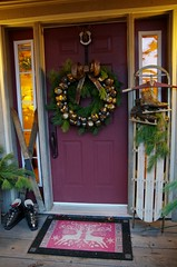 December 2017 (kimshand) Tags: december 2017 winter winterbeauty mountains cobequidmountain wentworth ns novascotia trees hills valley wentworthvalley fog frost frosty frontporch frontdoor christmas christmasdecorations decor rustic holiday