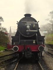 Head on (feroequineologist) Tags: 44806 black5 nymr northyorkshiremoorsrailway lms goathland railway train steam
