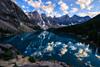 Moraine (Jim Nix / Nomadic Pursuits) Tags: aurorahdr2018 banff canada canadianrockies hdr jimnix lakelouise luminar macphun morainelake nomadicpursuits sony sonya7ii glacial goldenhour lake landscape mountains sunset travel