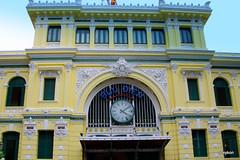 Vietnam-Ho Chi Minh City:Central Post Office II. (roxykon) Tags: vietnam indochina seasia hochiminhcity windows pentaxk5 tamron18250mm