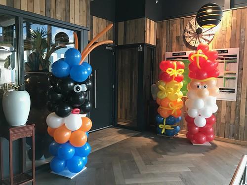 Ballonpilaar Sint, Piet en Cadeau Watertuin Spijkenisse