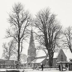 All Saint's Church, Kings Heath, on a snowy Sunday morning. (christinewright6) Tags: birmingham kingsheath allsaintschurchkingsheath kingsheathvillagesquare snow winter church england
