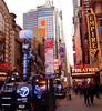 Times Square, 42nd Street & 8th Avenue (JFGryphon) Tags: newstrucks 42ndstreet timessquare ordinaryday satellitetvtrucks urbancanyons