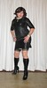 leather dress, stockings and boots (Barb78ara) Tags: dress littledress littleblackdress lbd stockings stockingtops tannylon tanstockings boots tightboots highheels stilettohighheels stilettoheels