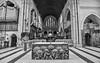 Waratah worship (OzzRod) Tags: pentax k1 hdpentaxdfa1530mmf28 building church cathedral christchurchcathedral anglican monochrome blackandwhite waratah newcastle dailyinnovember2017