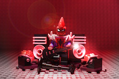 Spider-Punk (Superhero Minifig) Tags: spiderman spiderpunk marvel spiderverse hobartbrown superhero superherominifigs minifigs minifigure rocknroll
