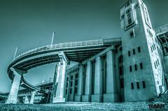 Pont Jacques-Cartier, Montreal (yravaryphotoart.com) Tags: canoneos7d canonefs1022mmf3545usm yravaryphotoart yravaryphotoartcom pontjacquescartier monochrome montreal montréal
