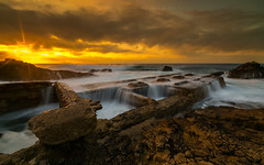 Myth and reality of Atlantis (marcolemos71) Tags: seascape sea waves rocks waterruins sky clouds sunset slowshutter portuguesecoast atlanticocean leefilters caboraso cascais hightide marcolemos