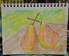 """Pair of Pears"" (BKHagar *Kim*) Tags: bkhagar art artwork sketch watercolor 2minutes fast quickdrawing pencil pear pair fruit stilllife"
