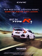 Honda Civic (2017) Type R GT 2.0 Turbo VTEC [Modell FK8] championship white (H2O74) Tags: honda civic 2017 type r typer fk 8 fk8 werbung werbungen reklame reklamen autowerbung autowerbungen anzeige anzeigen anúncio ad advertising advertisement ads adverts advertisment weis white blanc blanco heck heckflügel h2o74 speed auto automobile automobil autos automóvil automobiles car cars carros carro coche coches voiture voitures renner rakete 5 mk5 v vtec turbo 20 s gt tuning spoiler fett spoilermonster flügelmonster wing wings back rückseite flügelwerk flugmaschine startbahn